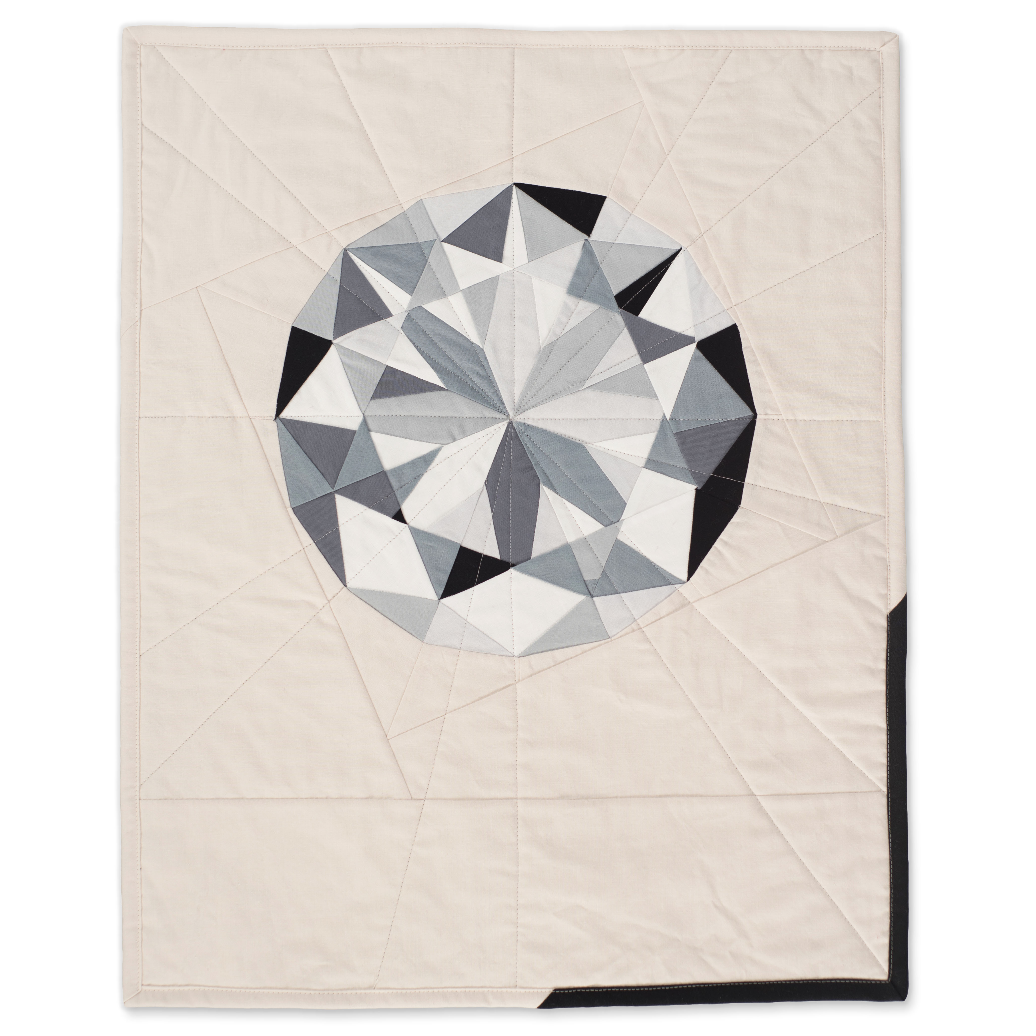 "<b>Diamond</b><br>20"" x 25""<br>Cotton, cotton batting<br>SOLD"