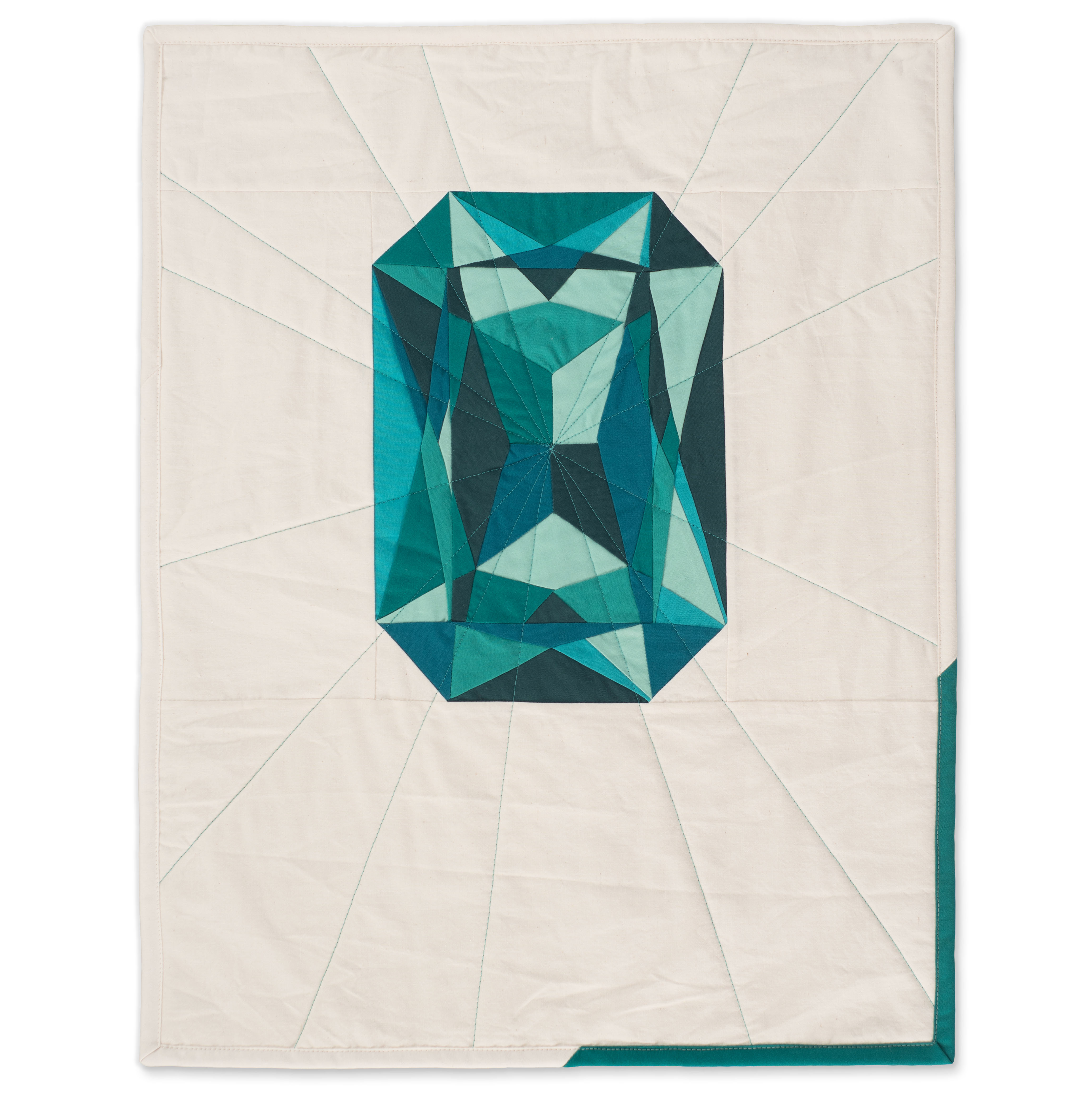 "<b>Emerald</b><br>20"" x 25""<br>Cotton, cotton batting<br><a href=""mailto:hello@3rdstoryworkshop.com?Subject=Emerald%20Gemology"" target=""_top"" rel=""noopener noreferrer"">Inquire</a>"