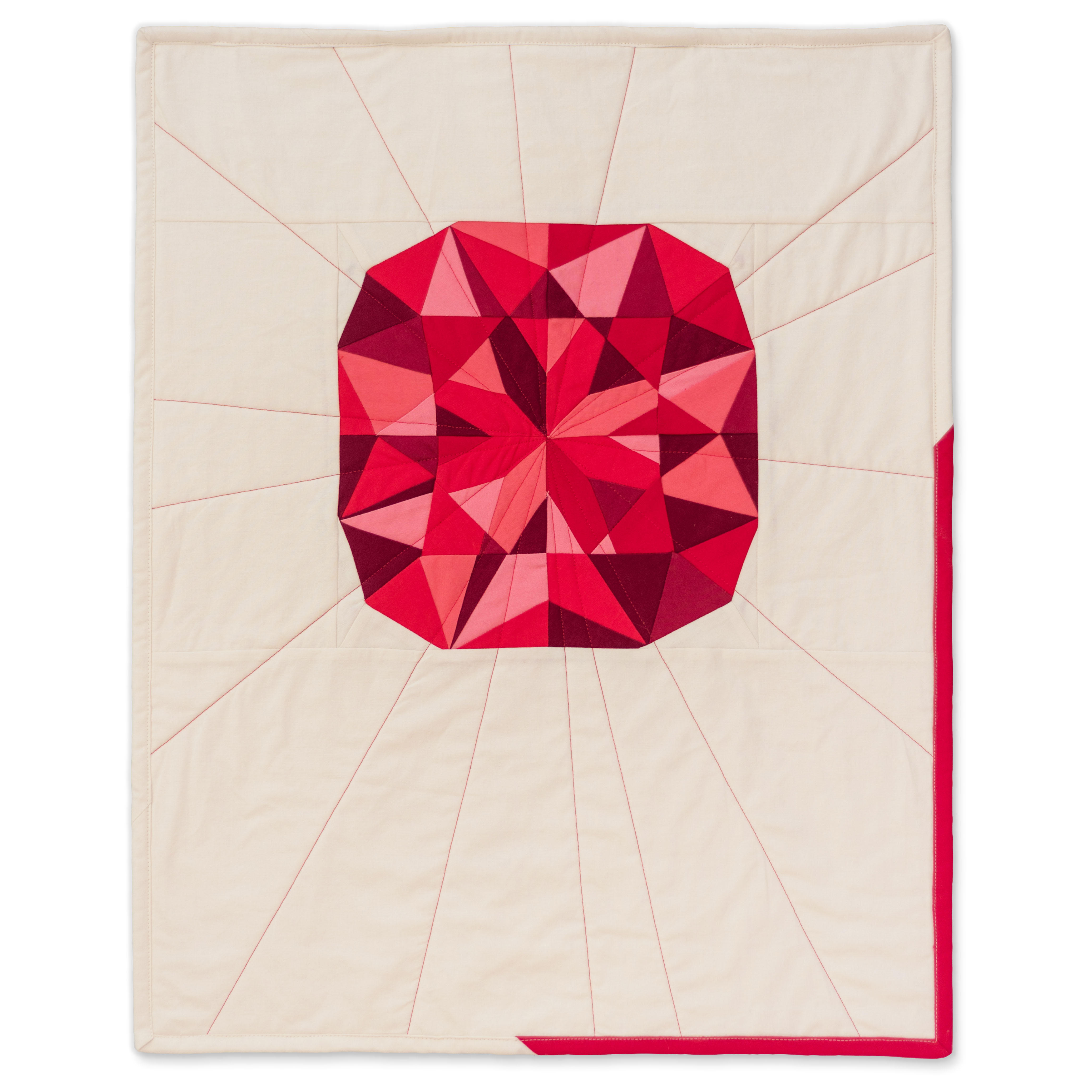 "<b>Garnet</b><br>20"" x 25""<br>Cotton, cotton batting<br><a href=""mailto:hello@3rdstoryworkshop.com?Subject=Garnet%20Gemology"" target=""_top"" rel=""noopener noreferrer"">Inquire</a>"