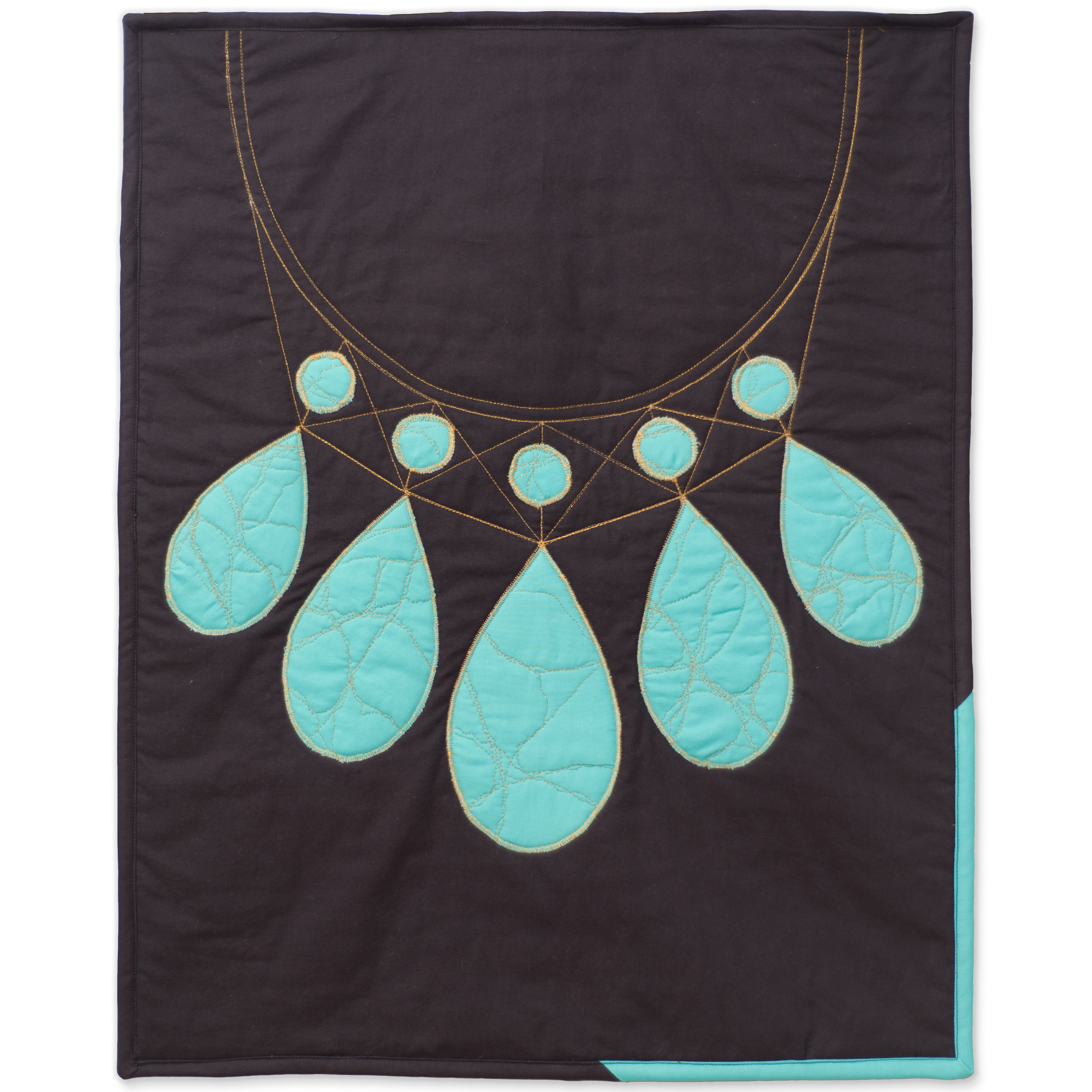 "<b>Turquoise</b><br>20"" x 25""<br>Cotton, cotton batting<br><a href=""mailto:hello@3rdstoryworkshop.com?Subject=Turquoise%20Gemology"" target=""_top"" rel=""noopener noreferrer"">Inquire</a>"