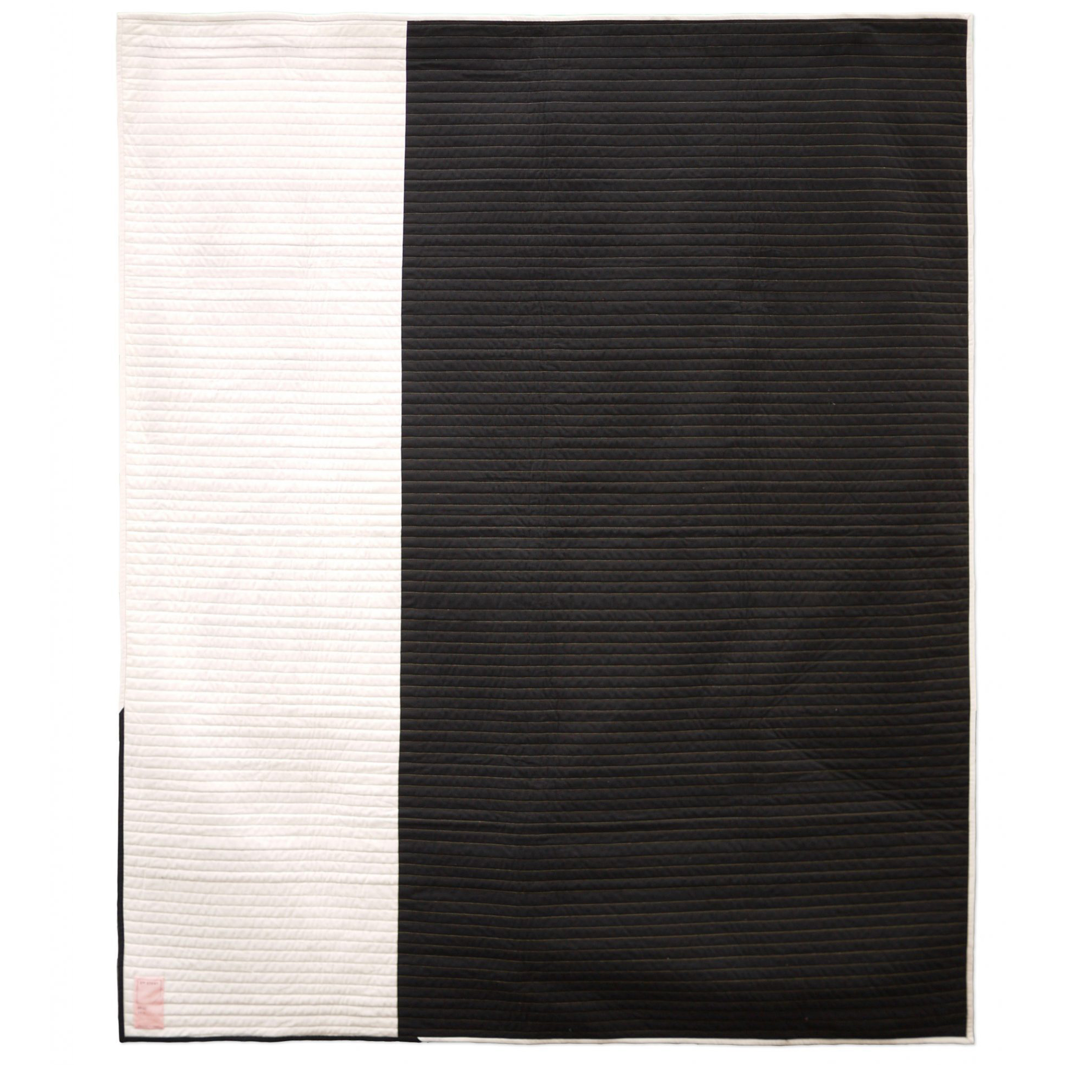 "<b>Inlay, Black - Back</b><br>58"" x 70""<br>Cotton, cotton batting<br>"