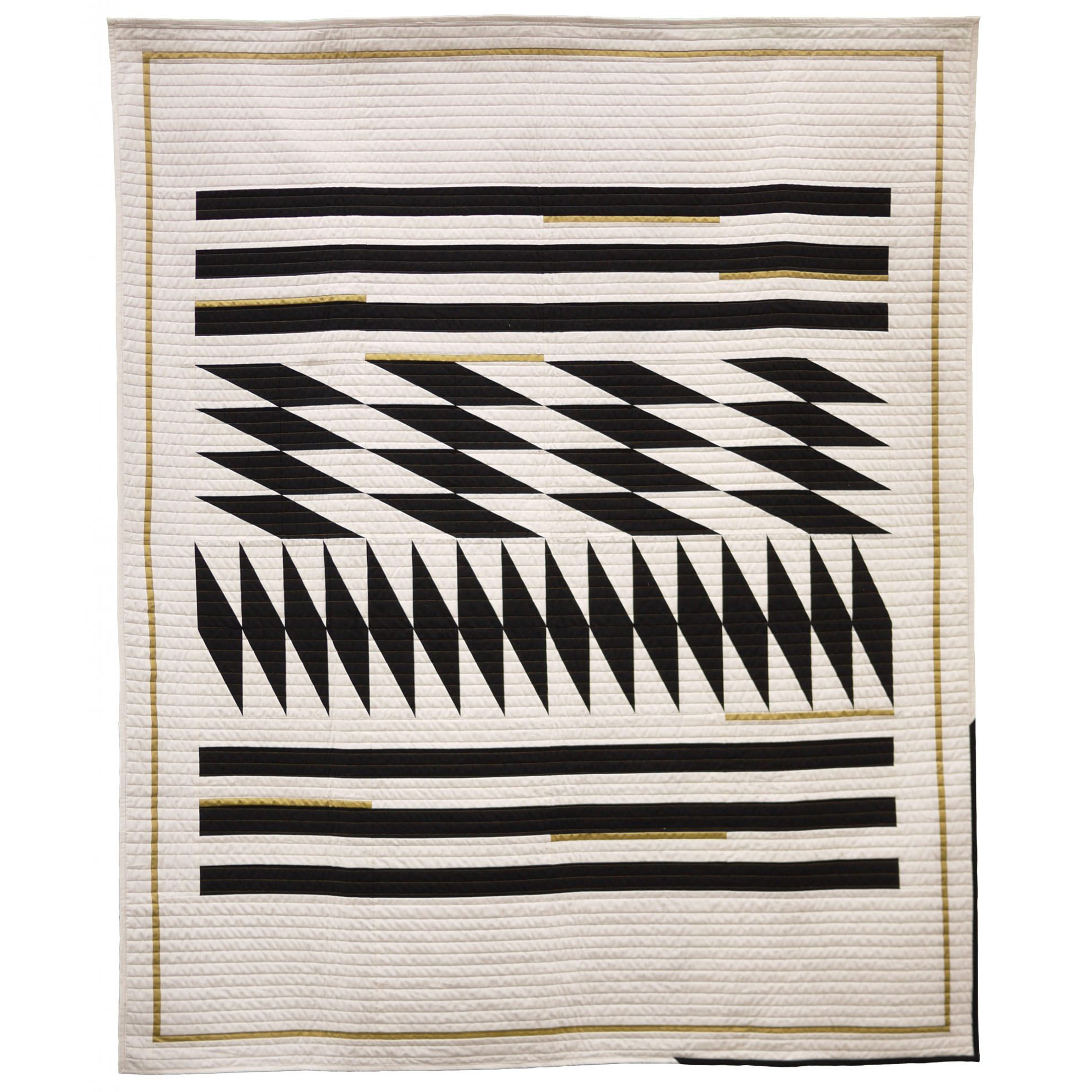 "<b>Inlay, Black - Throw Size</b><br>58"" x 70""<br>Cotton, cotton batting<br><a href=""https://3rdstoryworkshop.com/product/inlay-collection-throw-quilt"" target=""_blank"" rel=""noopener noreferrer"">PURCHASE</a>"